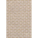 BRICK1 WHITE MARBLE & SAND 5.5  x 8.5  Notebooks Back Cover