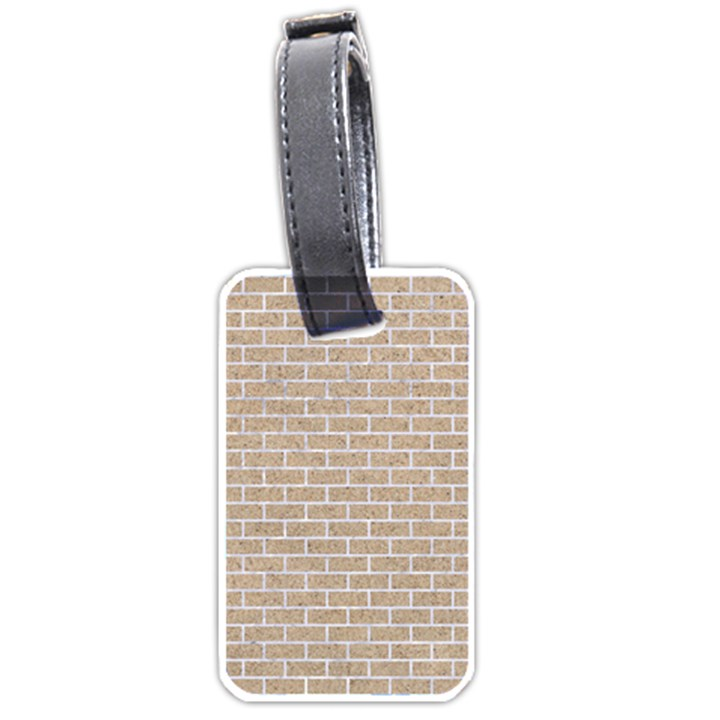 BRICK1 WHITE MARBLE & SAND Luggage Tags (One Side)