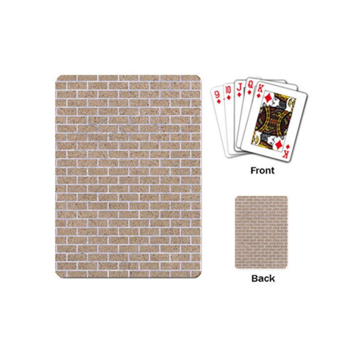 BRICK1 WHITE MARBLE & SAND Playing Cards (Mini)
