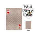 BRICK1 WHITE MARBLE & SAND Playing Cards 54 (Mini)  Front - Heart6