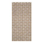 BRICK1 WHITE MARBLE & SAND Shower Curtain 36  x 72  (Stall)  33.26 x66.24 Curtain