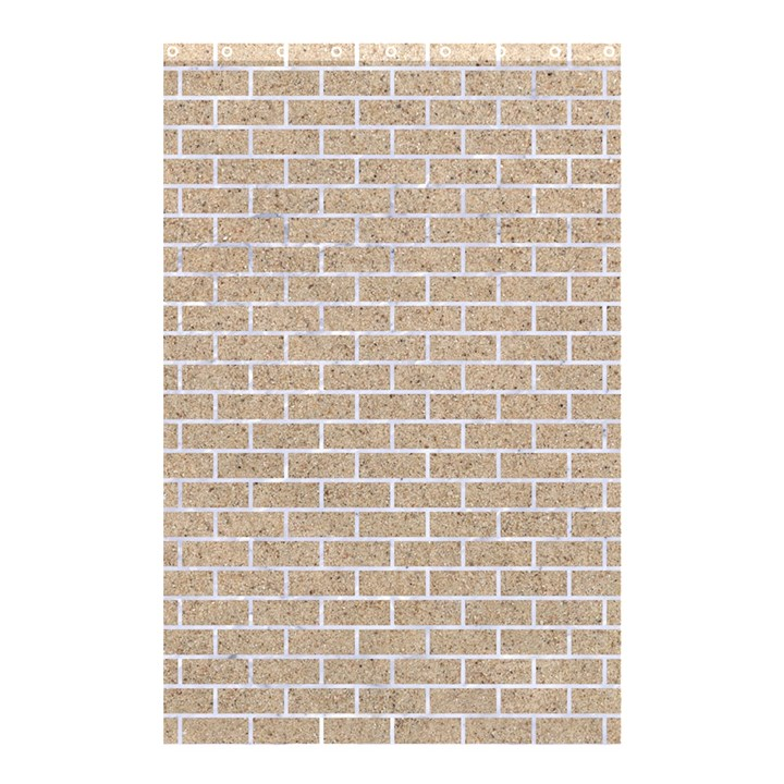 BRICK1 WHITE MARBLE & SAND Shower Curtain 48  x 72  (Small)
