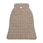 BRICK1 WHITE MARBLE & SAND Bell Ornament (Two Sides) Front