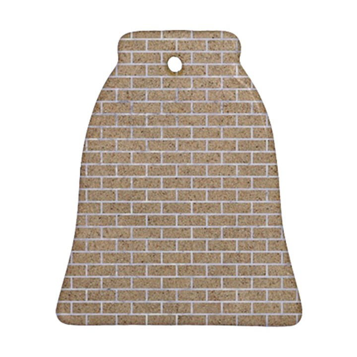BRICK1 WHITE MARBLE & SAND Bell Ornament (Two Sides)