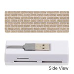 BRICK1 WHITE MARBLE & SAND Memory Card Reader (Stick)  Front