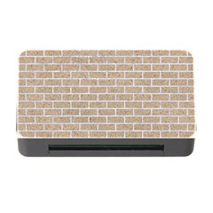 Brick1 White Marble & Sand Memory Card Reader With Cf