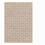 BRICK1 WHITE MARBLE & SAND Small Garden Flag (Two Sides) Back
