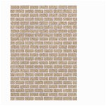 BRICK1 WHITE MARBLE & SAND Large Garden Flag (Two Sides) Front
