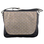 BRICK1 WHITE MARBLE & SAND Messenger Bags Front