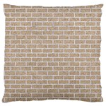BRICK1 WHITE MARBLE & SAND Large Cushion Case (Two Sides) Front