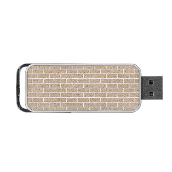 BRICK1 WHITE MARBLE & SAND Portable USB Flash (Two Sides)