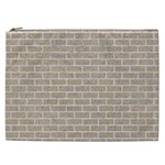 BRICK1 WHITE MARBLE & SAND Cosmetic Bag (XXL)  Front