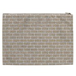 BRICK1 WHITE MARBLE & SAND Cosmetic Bag (XXL)  Back