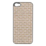 BRICK1 WHITE MARBLE & SAND Apple iPhone 5 Case (Silver) Front