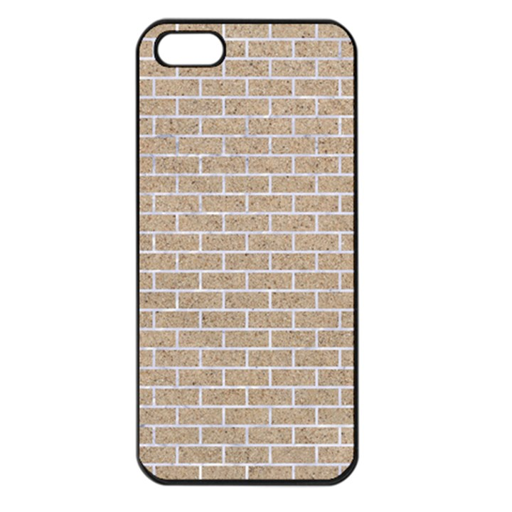 BRICK1 WHITE MARBLE & SAND Apple iPhone 5 Seamless Case (Black)
