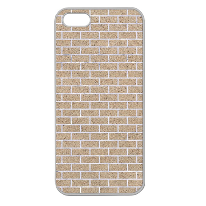 BRICK1 WHITE MARBLE & SAND Apple Seamless iPhone 5 Case (Clear)