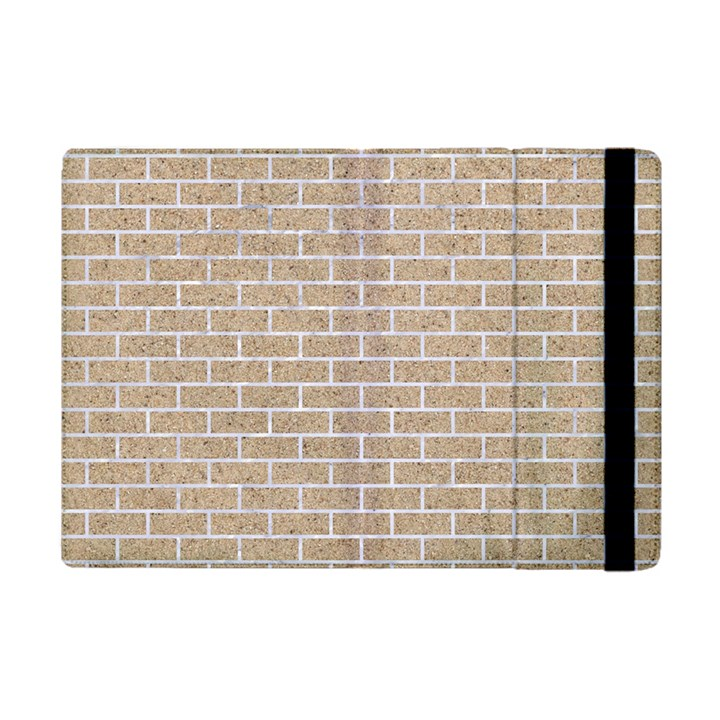 BRICK1 WHITE MARBLE & SAND Apple iPad Mini Flip Case