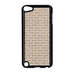 BRICK1 WHITE MARBLE & SAND Apple iPod Touch 5 Case (Black) Front