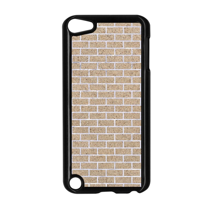 BRICK1 WHITE MARBLE & SAND Apple iPod Touch 5 Case (Black)