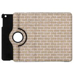 BRICK1 WHITE MARBLE & SAND Apple iPad Mini Flip 360 Case Front