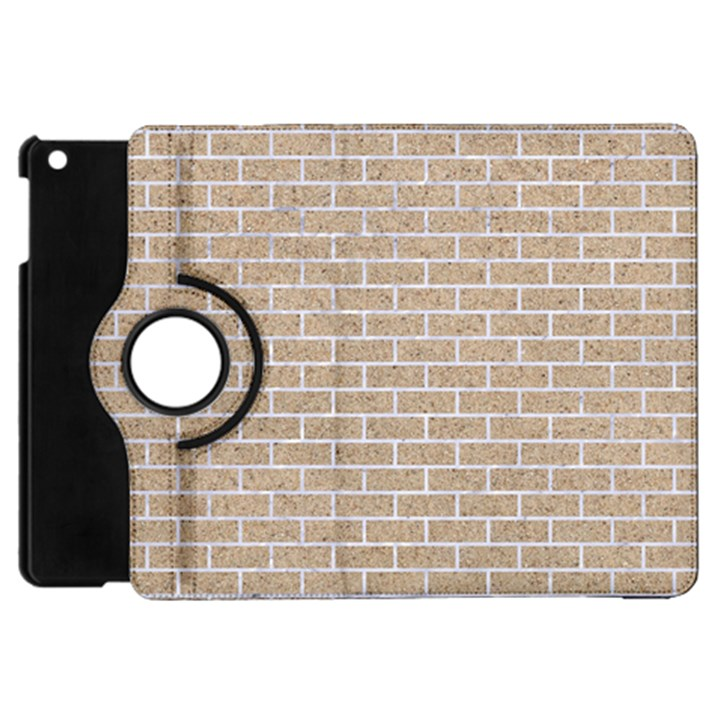 BRICK1 WHITE MARBLE & SAND Apple iPad Mini Flip 360 Case