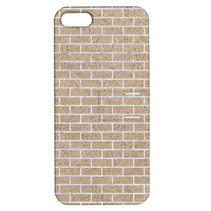 BRICK1 WHITE MARBLE & SAND Apple iPhone 5 Hardshell Case with Stand