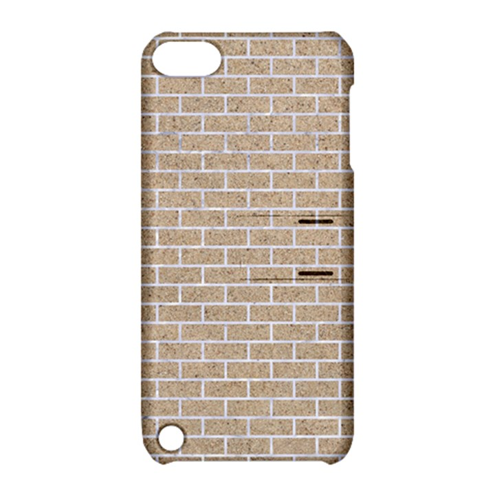BRICK1 WHITE MARBLE & SAND Apple iPod Touch 5 Hardshell Case with Stand