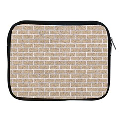 Brick1 White Marble & Sand Apple Ipad 2/3/4 Zipper Cases