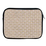 BRICK1 WHITE MARBLE & SAND Apple iPad 2/3/4 Zipper Cases Front