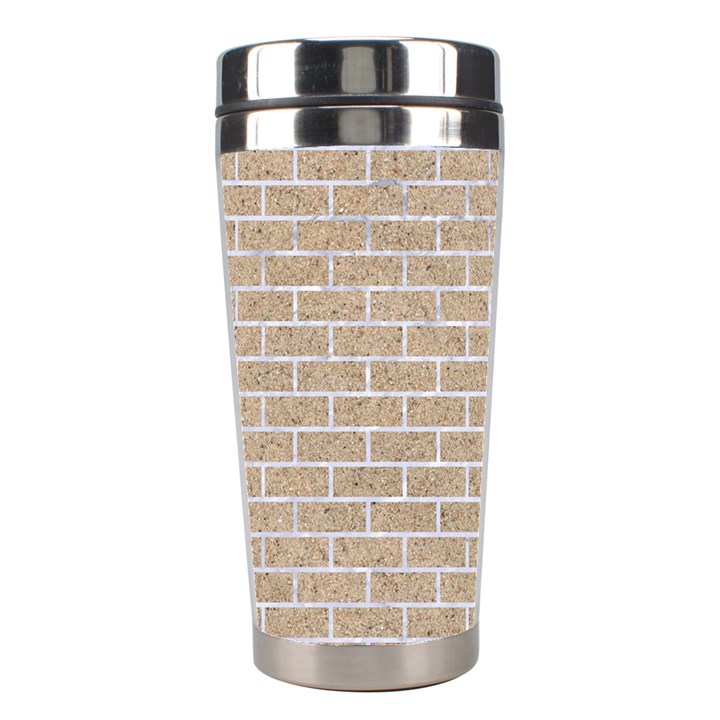 BRICK1 WHITE MARBLE & SAND Stainless Steel Travel Tumblers