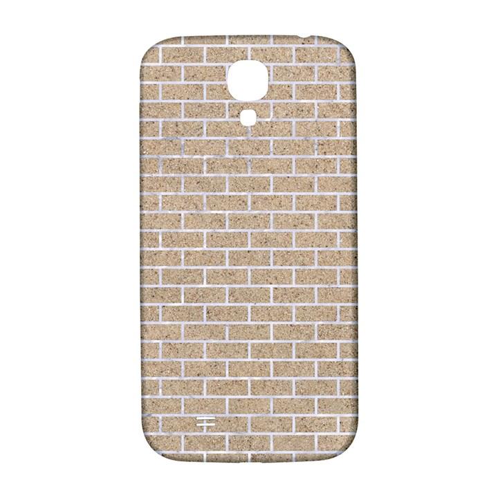 BRICK1 WHITE MARBLE & SAND Samsung Galaxy S4 I9500/I9505  Hardshell Back Case