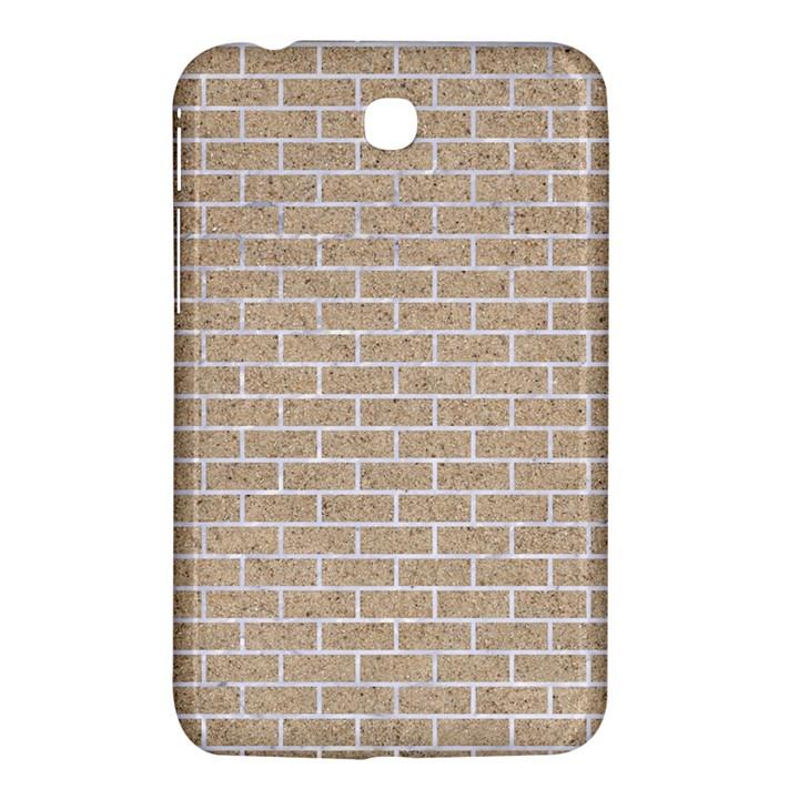 BRICK1 WHITE MARBLE & SAND Samsung Galaxy Tab 3 (7 ) P3200 Hardshell Case