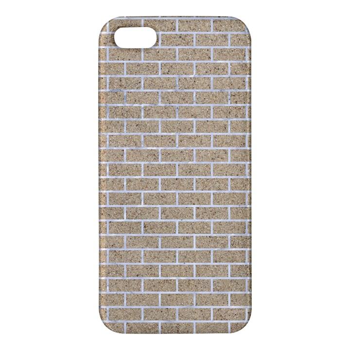 BRICK1 WHITE MARBLE & SAND iPhone 5S/ SE Premium Hardshell Case