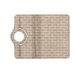 BRICK1 WHITE MARBLE & SAND Kindle Fire HD (2013) Flip 360 Case Front