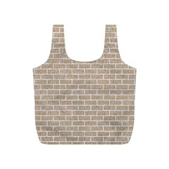 Brick1 White Marble & Sand Full Print Recycle Bags (s)