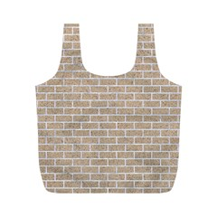 Brick1 White Marble & Sand Full Print Recycle Bags (m)