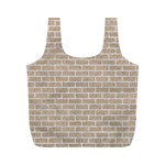 BRICK1 WHITE MARBLE & SAND Full Print Recycle Bags (M)  Front
