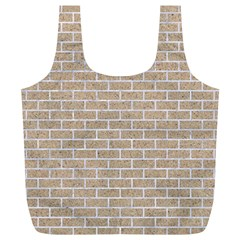 Brick1 White Marble & Sand Full Print Recycle Bags (l)