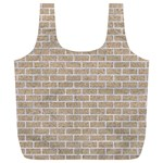 BRICK1 WHITE MARBLE & SAND Full Print Recycle Bags (L)  Back