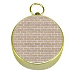 BRICK1 WHITE MARBLE & SAND Gold Compasses Front