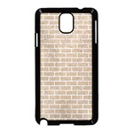 BRICK1 WHITE MARBLE & SAND Samsung Galaxy Note 3 Neo Hardshell Case (Black) Front