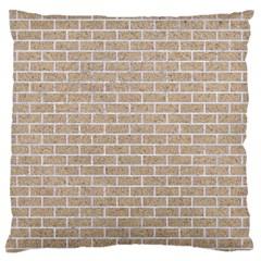 Brick1 White Marble & Sand Large Flano Cushion Case (one Side)