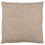 BRICK1 WHITE MARBLE & SAND Large Flano Cushion Case (Two Sides) Front