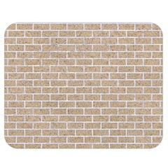 Brick1 White Marble & Sand Double Sided Flano Blanket (medium)