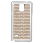 BRICK1 WHITE MARBLE & SAND Samsung Galaxy Note 4 Case (White) Front