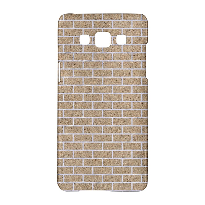 BRICK1 WHITE MARBLE & SAND Samsung Galaxy A5 Hardshell Case