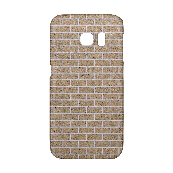 BRICK1 WHITE MARBLE & SAND Galaxy S6 Edge