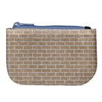 BRICK1 WHITE MARBLE & SAND Large Coin Purse Front
