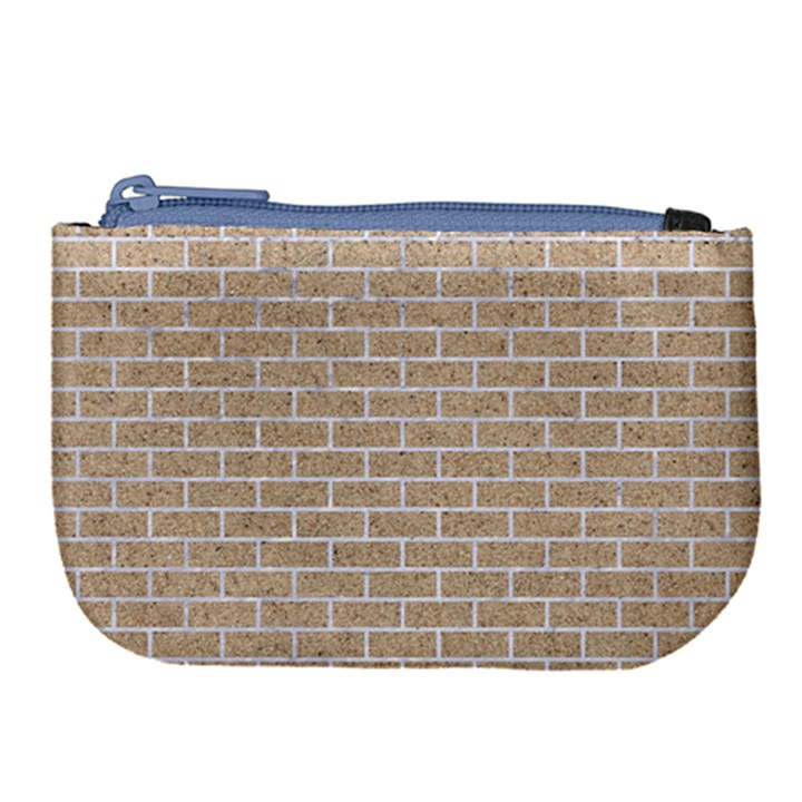 BRICK1 WHITE MARBLE & SAND Large Coin Purse