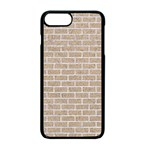 BRICK1 WHITE MARBLE & SAND Apple iPhone 7 Plus Seamless Case (Black) Front